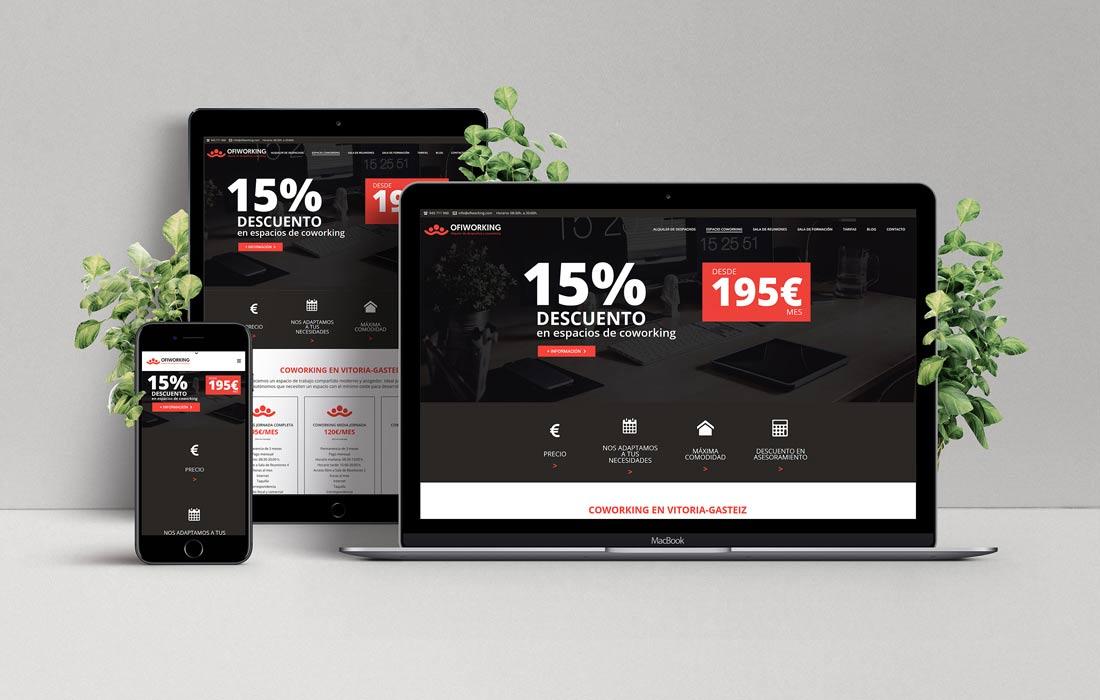 Diseño de página web para Ofiworking
