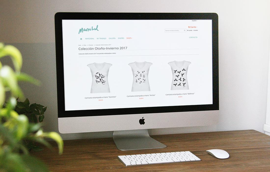 Diseño de tienda online Magento para Marzabal