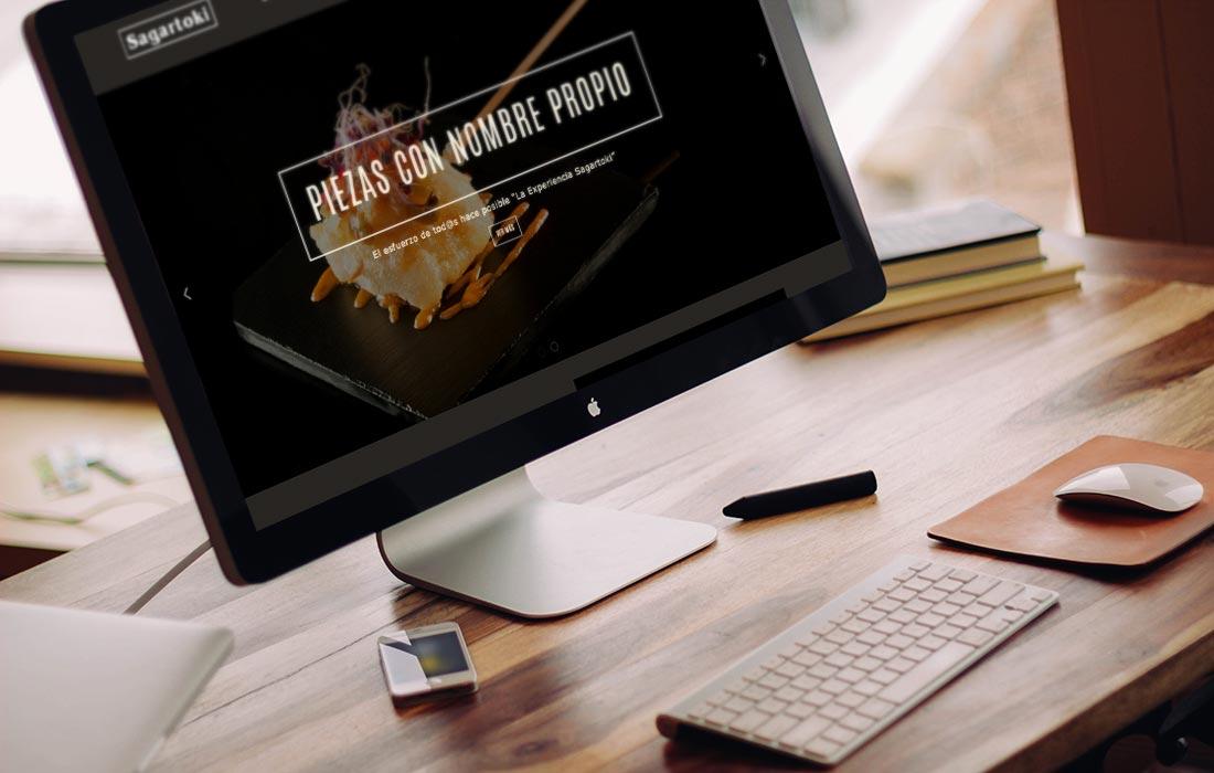 Diseño de página web para Sagartoki