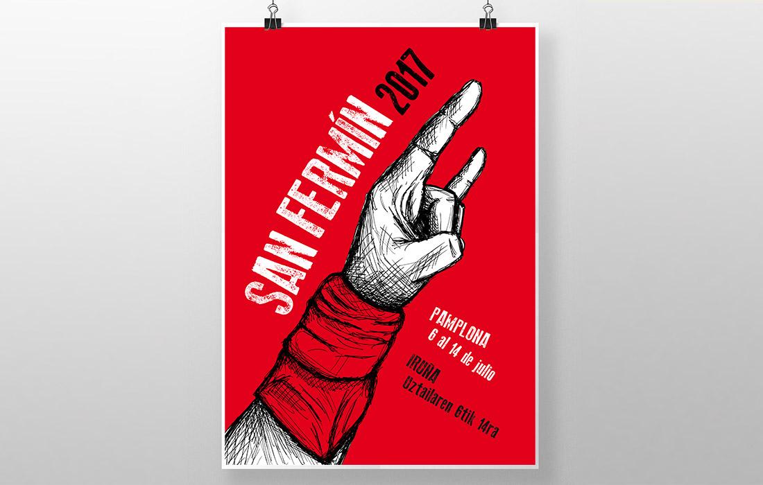 Propuesta de cartel San Fermin 2017