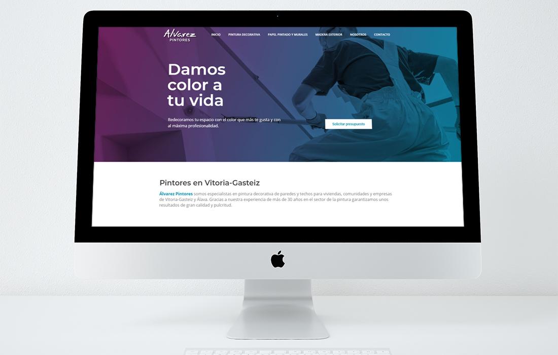 Diseño página web Álvarez Pintores