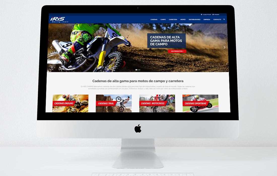 Diseño de página web para Iris Chains