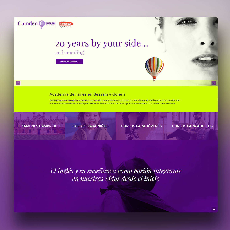 Diseño de página web Wordpress Camden Beasain